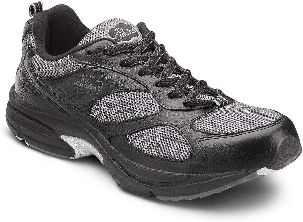 Comfort Mens Endurance Black Diabetic Athletic Shoes Dr