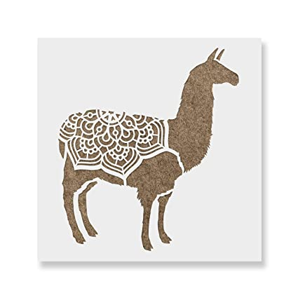 amazon com llama stencil template for walls and crafts reusable