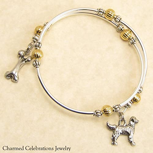 697cd74be Amazon.com: Golden Retriever Dog Breed Wrap Bracelet Handmade Charm ...