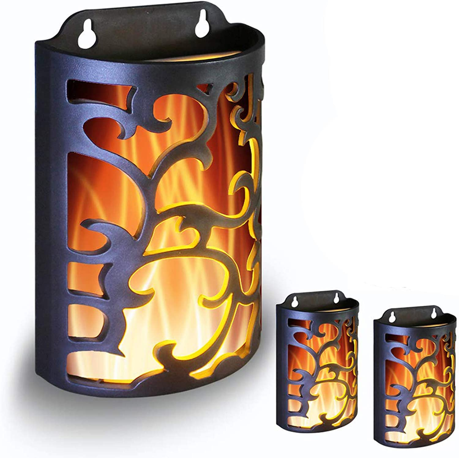 Wralwayslx Decorative Lanterns With Timer Candle Light Flameless Candles Indoor Outdoor Wall Sconces Flickering Flames Wall Light For Hallway Bathroom Use 3aa Battery Not Included 3 Pack Home Improvement