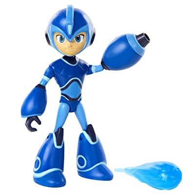 Mega Man: Fully Charged – Mega Man Articulated Action Figure with Removable/Interchangeable Mega Buster & Energy Blast Accessory! Based on the new show!: Toys & Games