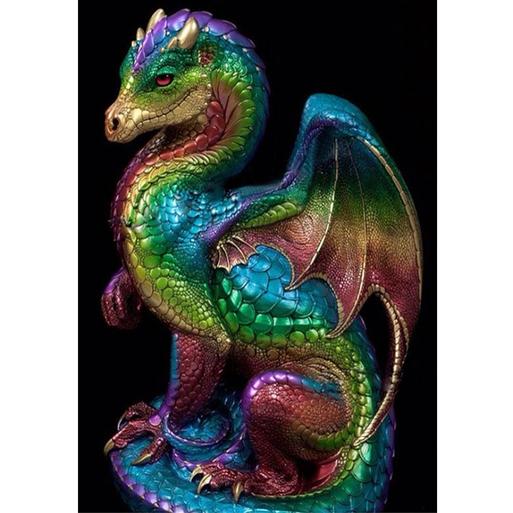 Home Decoration, Leedford 5D Dragon Embroidery Paintings Rhinestone Pasted DIY Diamond Painting (Multicolor)