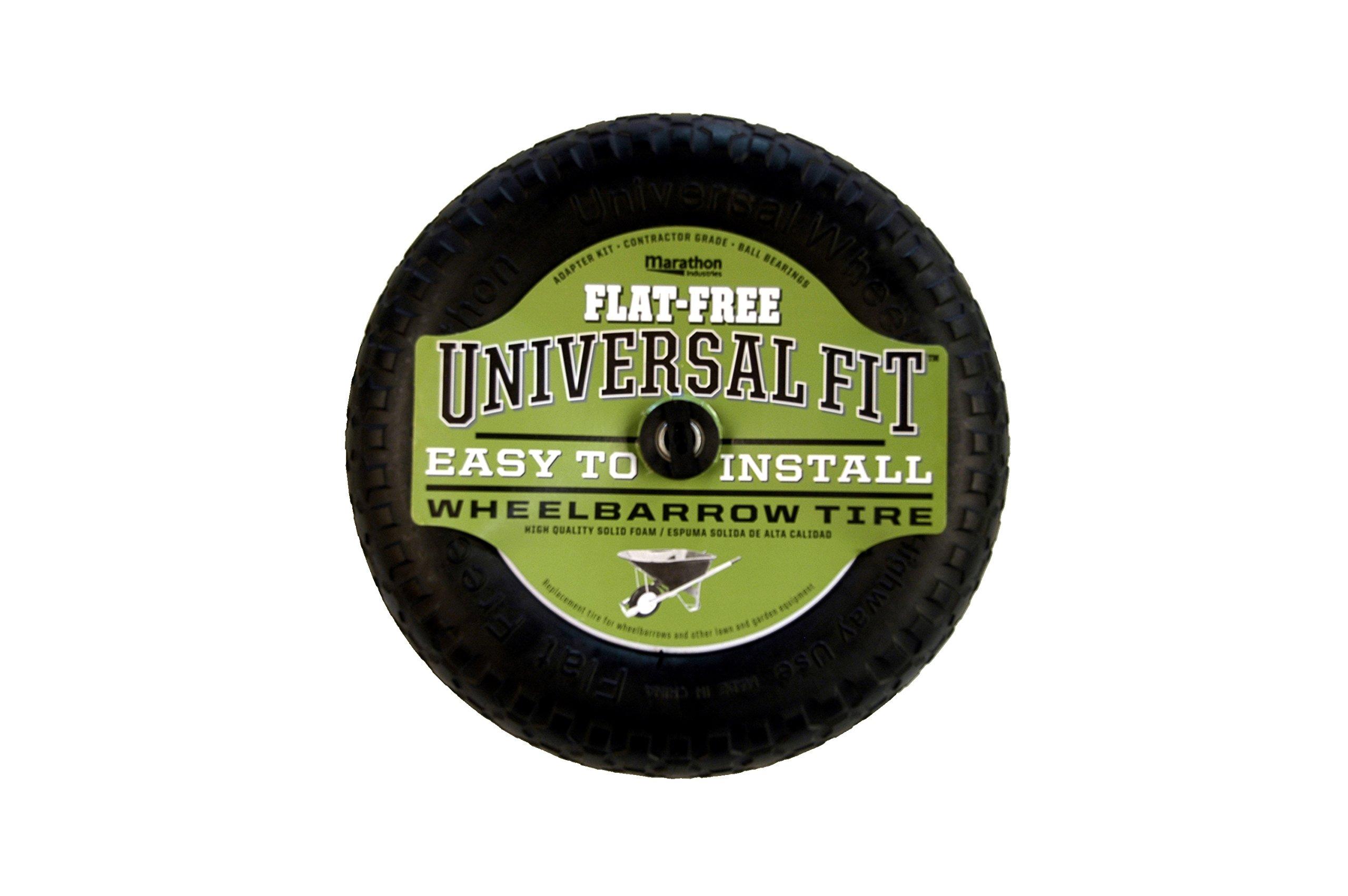 Arnold Marathon 14.5 Universal Flat-Free Replacement Wheelbarrow Wheel