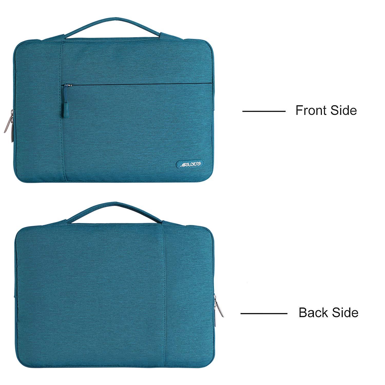 Serenidad Azul Poli/éster Protectora Multifuncional Funda Bolso MOSISO Malet/ín Compatible 13-13.3 Pulgadas MacBook Pro Retina//MacBook Air//Surface Laptop 2 2018 2017//Surface Book 2//1