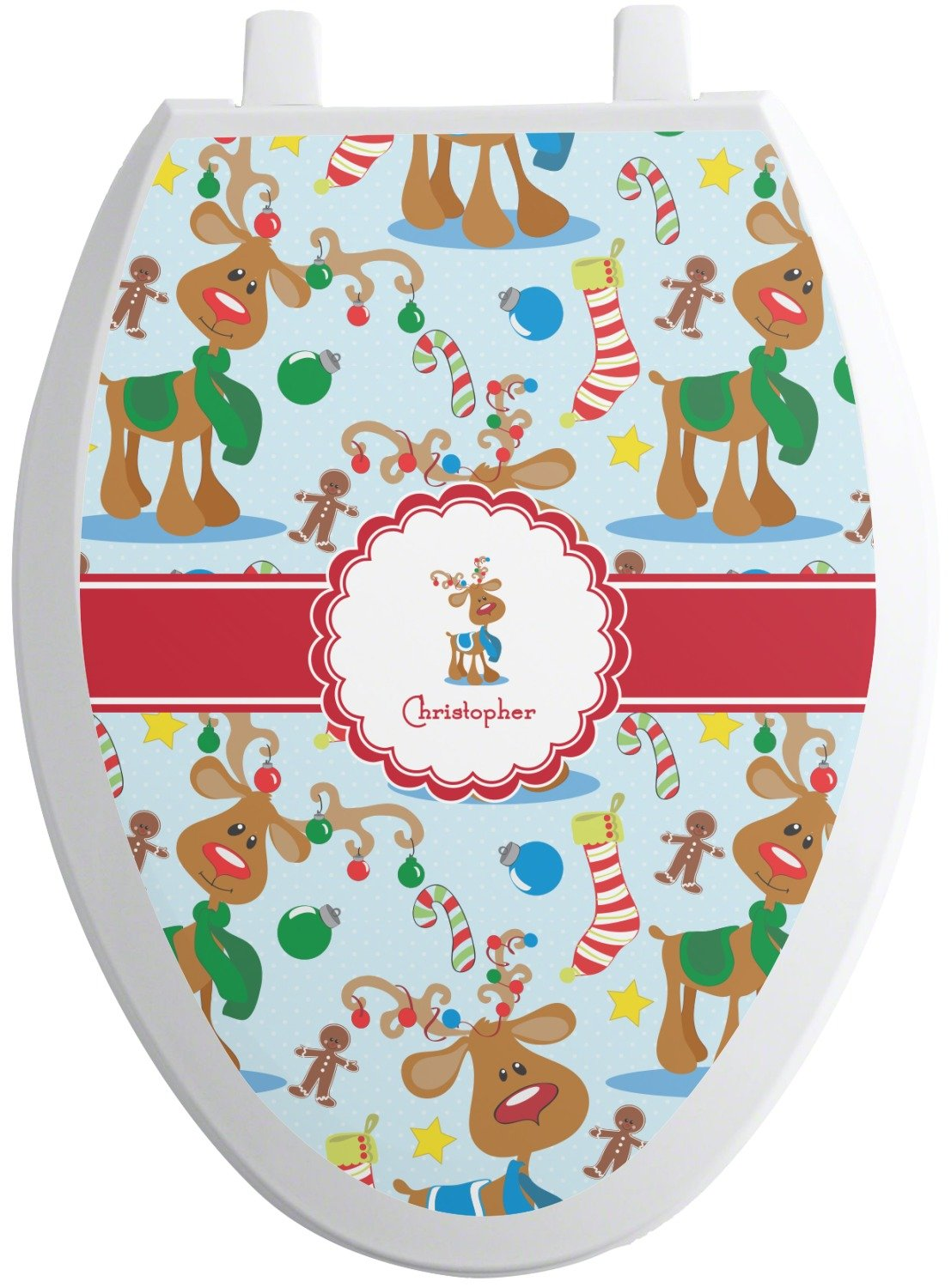 Surprising Rnk Shops Reindeer Toilet Seat Decal Elongated Pdpeps Interior Chair Design Pdpepsorg