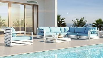 Amazon.de: ARTELIA RN-1 Loungemöbel Set - Aluminium Premium ...
