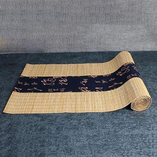 HH- Camino de Mesa Estilo Japonés De Bambú Camino De Mesa, Bandeja ...