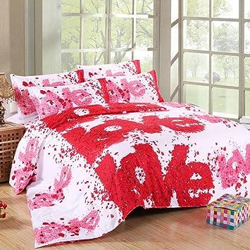 Kitzen 3d Effekt Blumen Hausfrau Bettwasche Sets Rose 4 Stuck