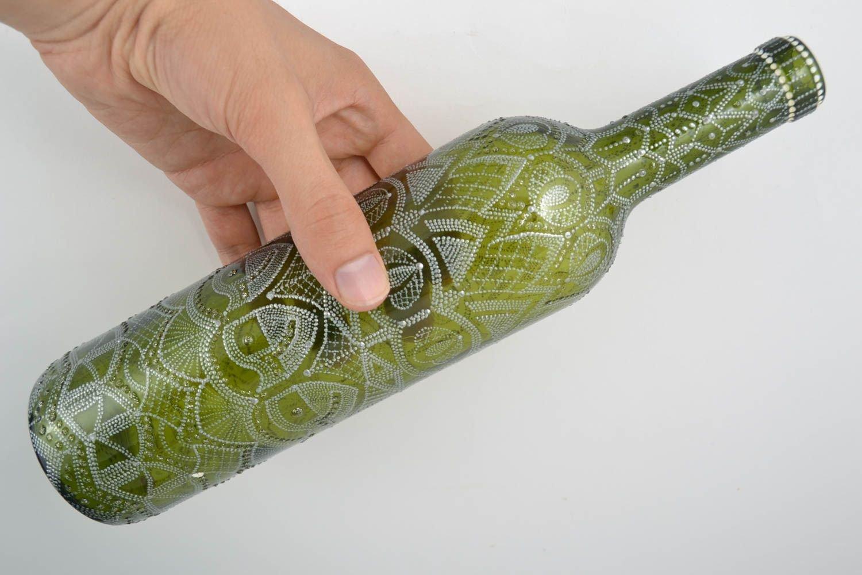 Botella de vidrio hecha a mano recipiente para vino regalo original para hombre: Amazon.es: Hogar