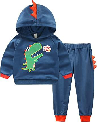 UK Toddler Baby Long Sleeve Hoodies Top Trouser Tracksuit Boys Girls Clothes Set