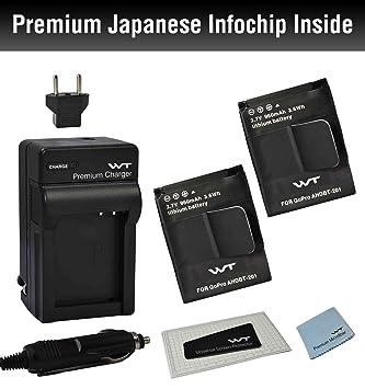 Amazon.com: Combo Kit WT nixxell Batería (2pack) y cargador ...