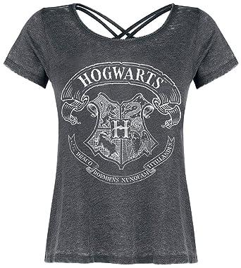 358818c0e8ab5 HARRY POTTER Poudlard T-Shirt Manches Courtes Gris chiné  Amazon.fr ...