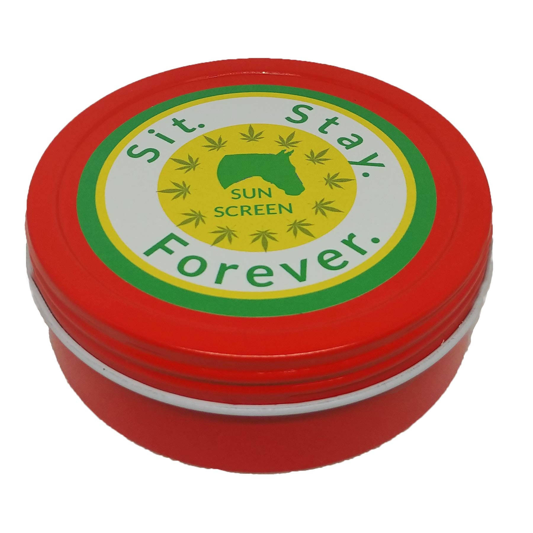 SIT. STAY. FOREVER. SAFETY FIRST PET PRODUCTS, Sit. Stay. Forever. Organic Horse Sunscreen & Moisturizer, All Natural, 4 oz tin, Made in USA