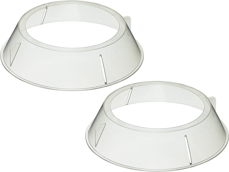KitchenCraft - Juego de 2 soportes circulares de apilamiento de platos para microondas.