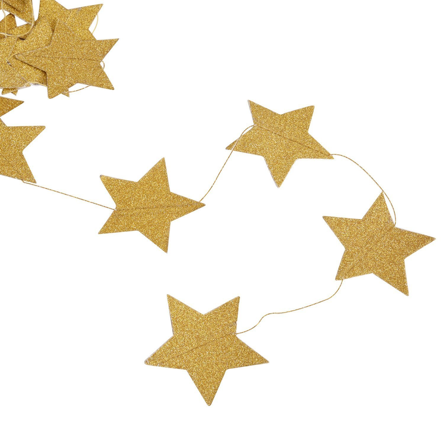 Whaline 52 Feet Circle Paper Garland Glitter Dots Bunting Banner Hanging Decoration for Rose Gold Party Supplies Birthday Wedding Bachelorette Circle Rose Gold