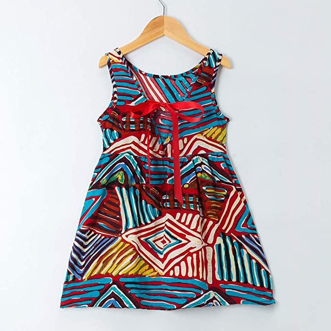 Amazon.com: Vestido para niñas con correa y estampado floral ...
