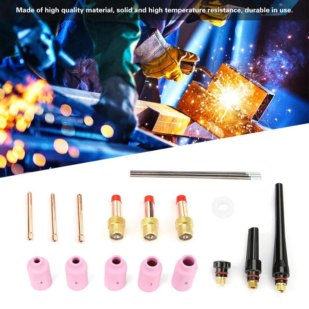 Akozon TIG Consumables 18pcs//set WP-17//18//26 Series TIG Welding Torch Consumables Accessories