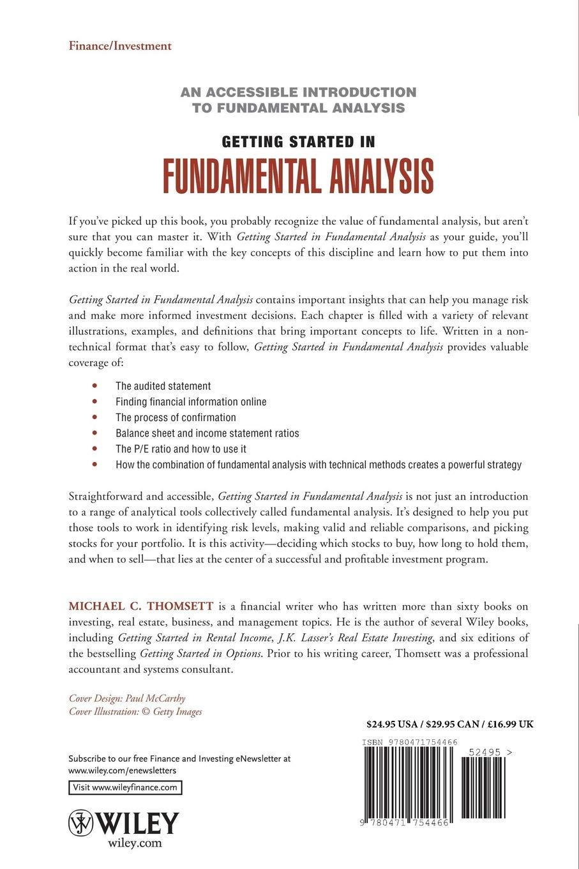 Getting Started in Fundamental Analysis: Michael C  Thomsett