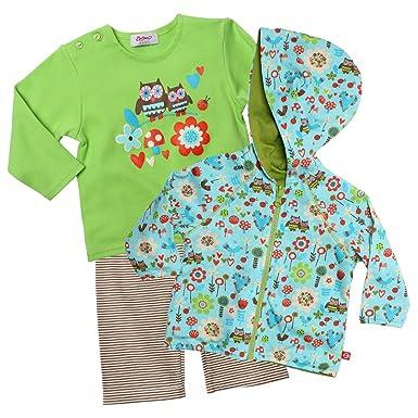 64df83e0e Zutano Baby-Girls Infant Penny Lane Hoodie, Long Sleeve T-Shirt and Pant