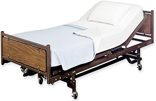 Amazon.com: White Classic Flat Hospital Bed Sheet, Twin Size Flat