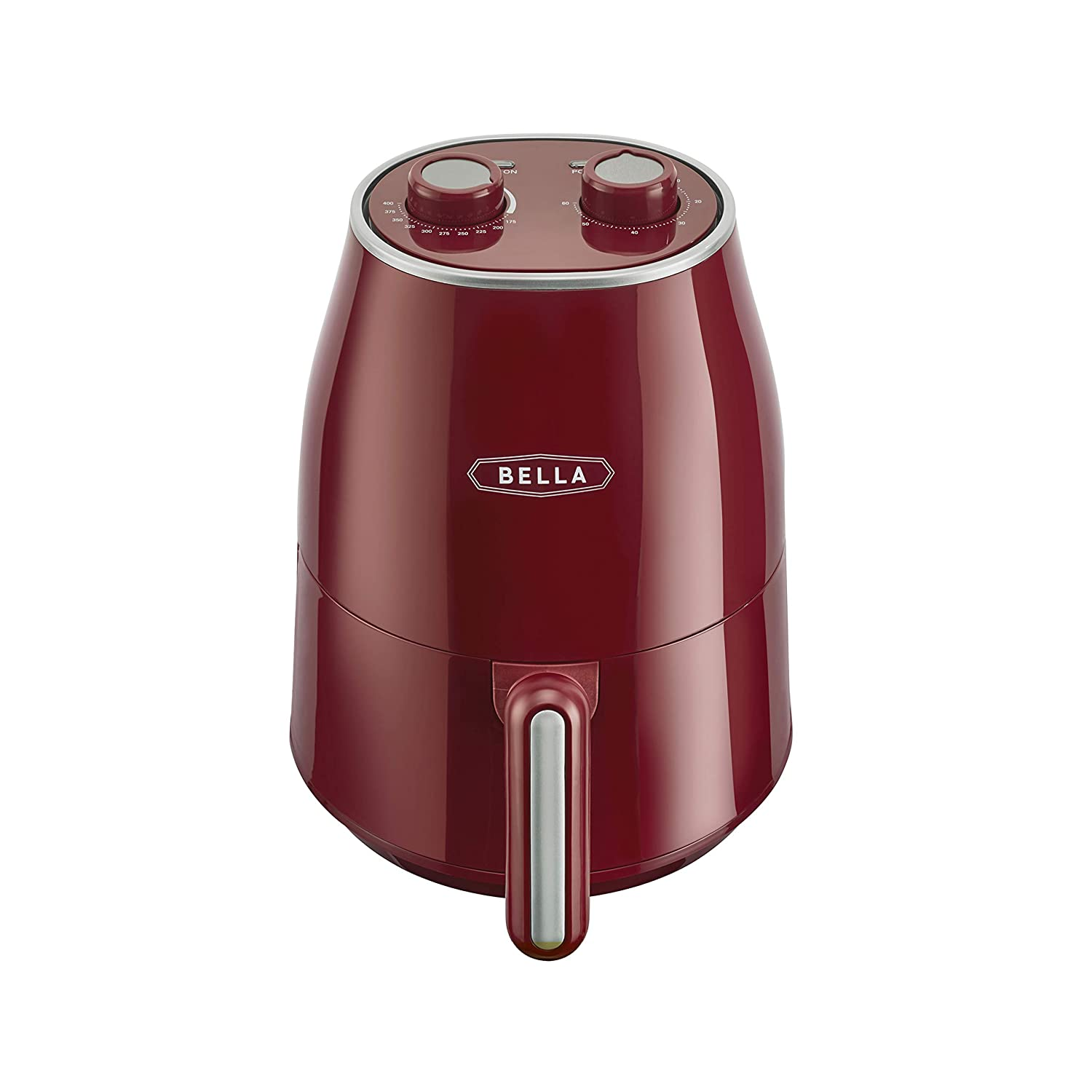 BELLA 14778 1.6 QT, Red Air Convection Fryer, Quart