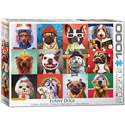 EuroGraphics Funny Dogs by Lucia Heffernan 1000-Piece Puzzle: Toys & Games