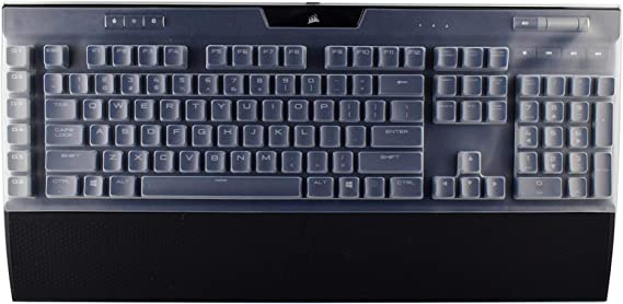 Leze - Ultra Thin Keyboard Cover for Corsair K95 RGB Platinum Mechanical Gaming Keyboard - Clear