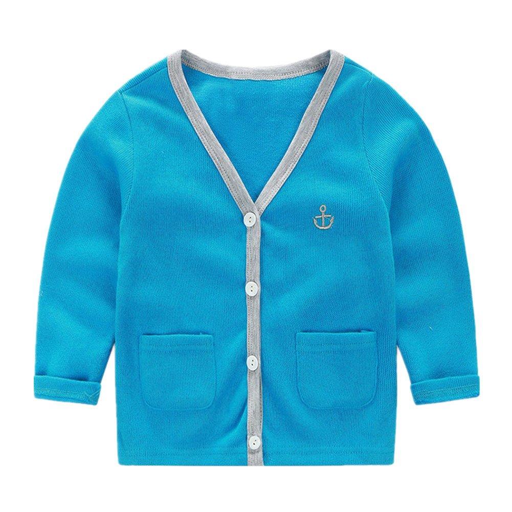 LittleSpring Little Boys Slim Cardigan V-Neck Buttons