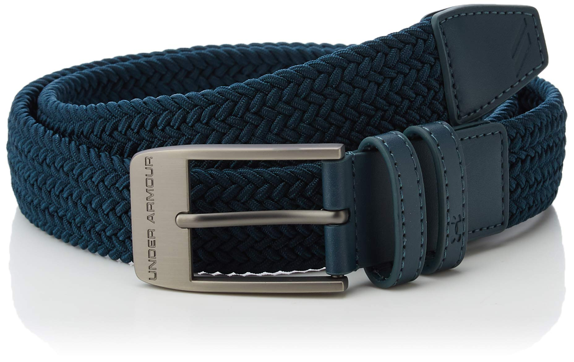 Under Armour Men's Braided Belt 2.0, Tandem Teal//Tandem Teal,38 by Under Armour