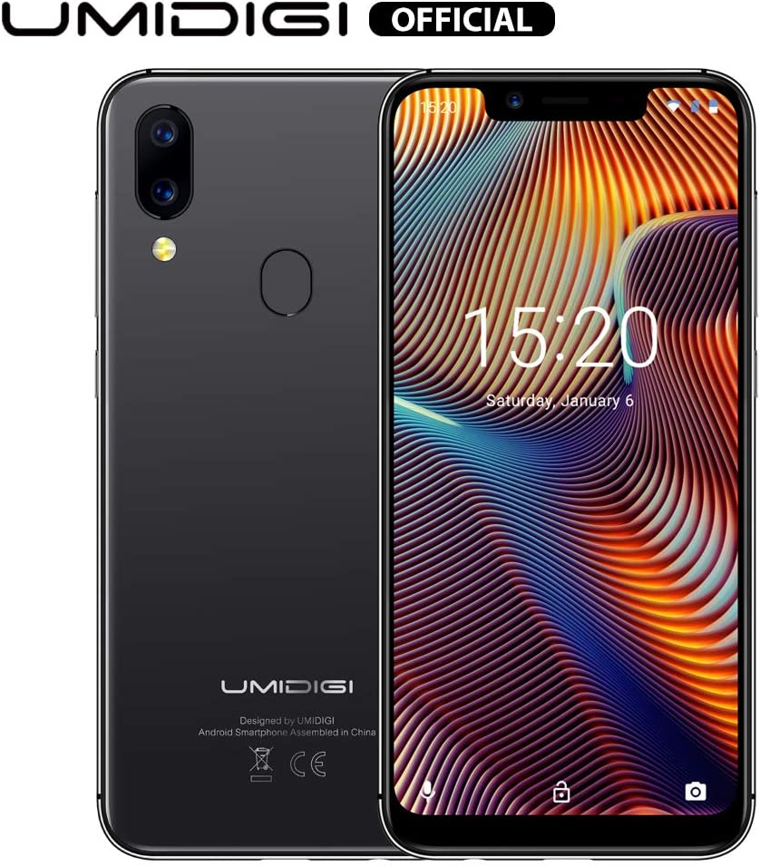 "UMIDIGI A3 Pro GSM Unlocked Cell Phones 3GB+32GB(Expandable Storage to 256G) 5.7"" inch 19:9 Full-Screen Display 12MP + 5MP Dual Camera Global Band Dual 4G LTE 2 + 1 Card Slots Android 9.0(Gray)"