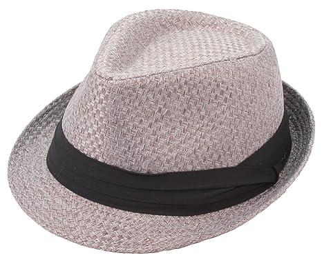 Amazon.com  Milani Fedora Hat with Black Ribbon Band  Clothing 234eda729ae