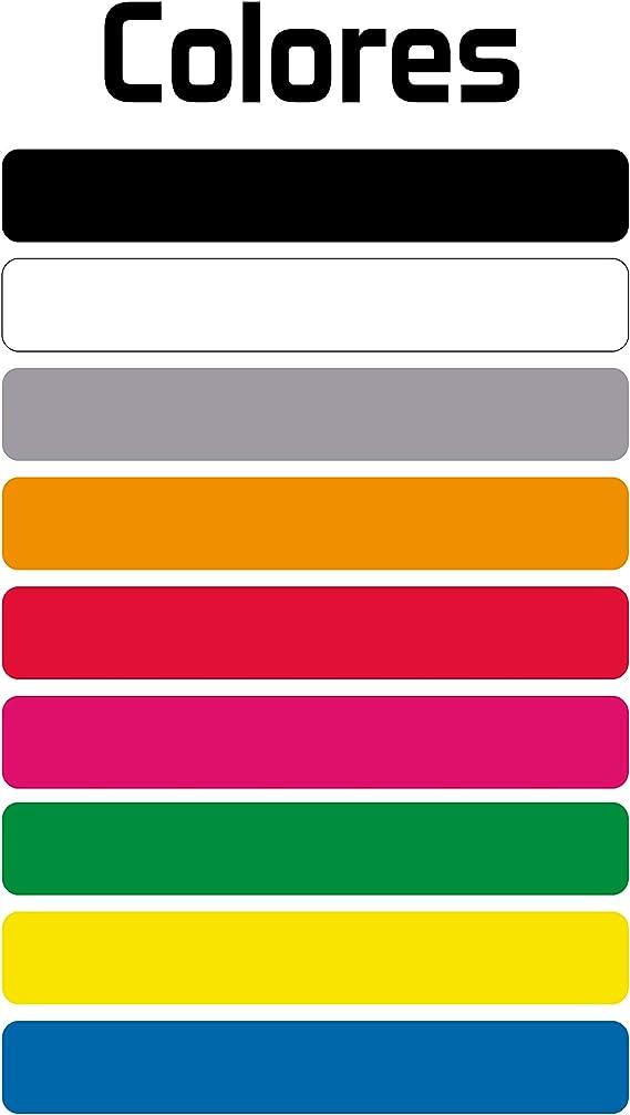 Haberdashery Online Kit 9 Adhesivos con Bandera, Texto y Color Personalizables, para Bicicletas, Motos, Coches y Otros Objetos.: Amazon.es: Coche y moto