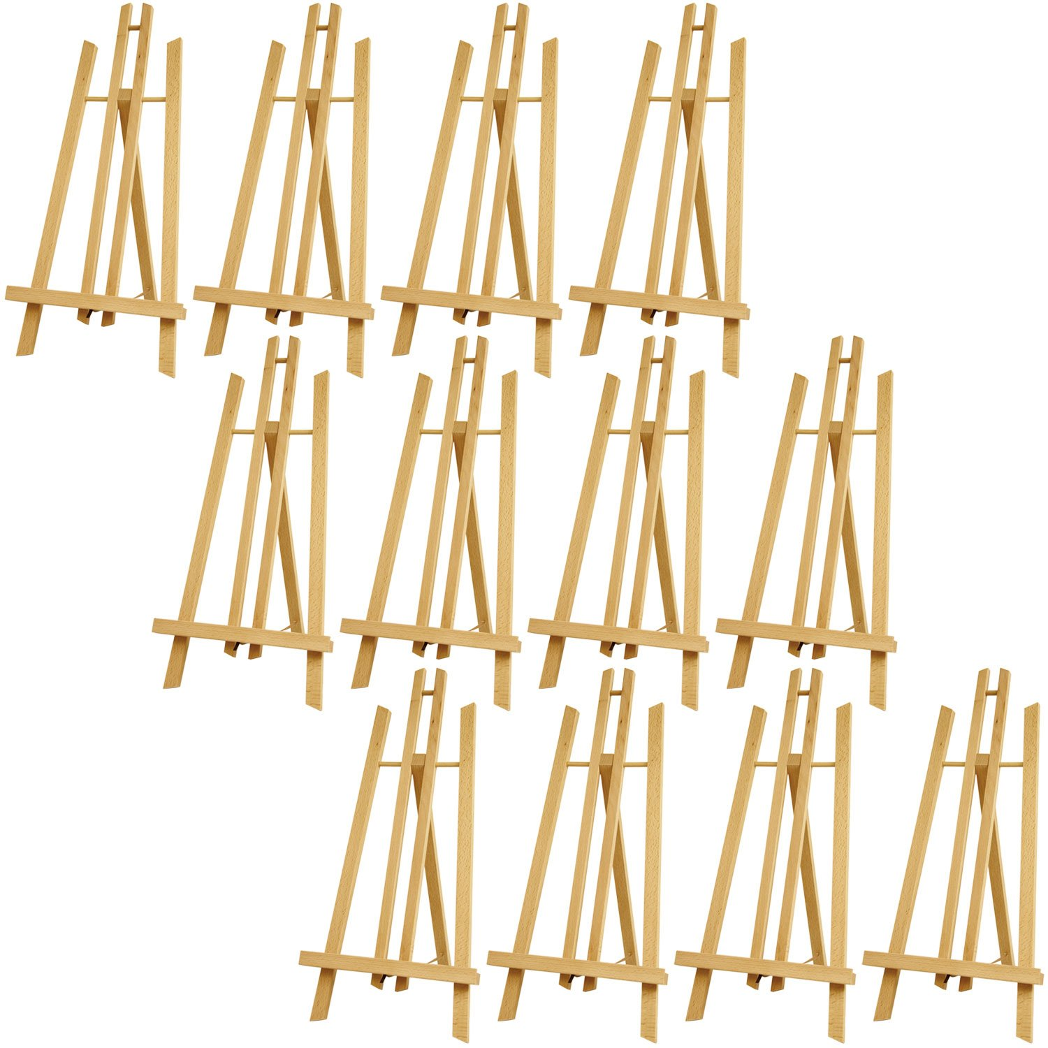 US Art Supply 18'' Large Tabletop Display A-Frame Artist Easel (12-Pack) by US Art Supply