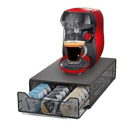HiveNets Tassimo Café Cápsula Soporte y Cajón de Almacenamiento Metal Soporte Máquina para 60 Pcs