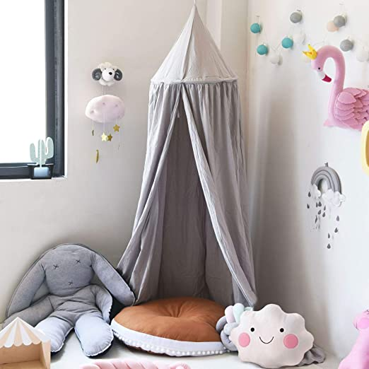 Mosquito Net Dome Bed Canopy Kids Round Princess Play Tent Game House Decor