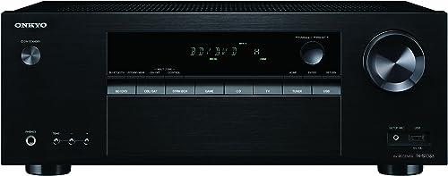 Onkyo Surround Sound Audio Video Component Receiver Black TX-SR383
