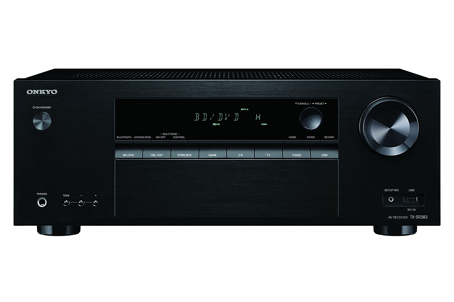 Onkyo Surround Sound Audio & Video Component Receiver Black (TX-SR383)