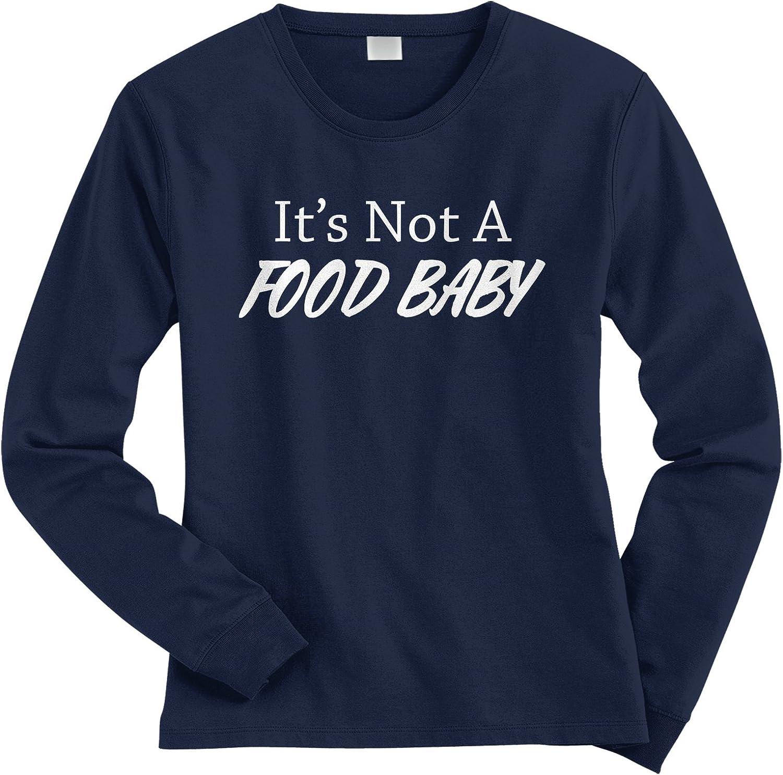 Threadrock Women's It's Not A Food Baby Long Sleeve T-Shirt
