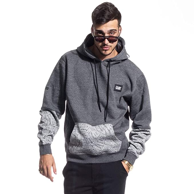 SUDADERA GRIMEY GRIMEOLOGY HOODIE FW16 HEATHER GREY MELANGE-S: Amazon.es: Ropa y accesorios