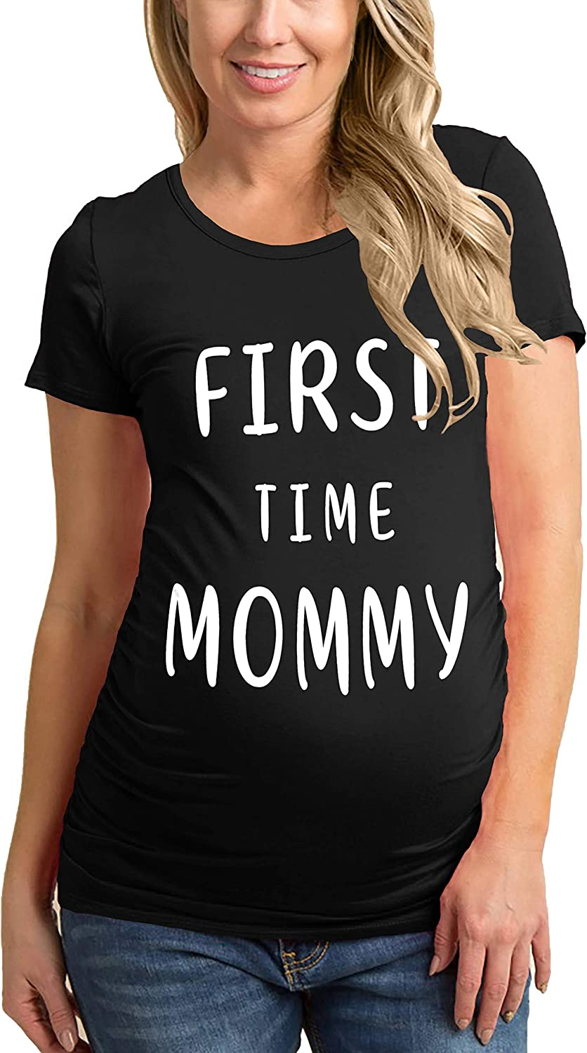 Maternity T Shirts for Women - Womens Tunic Side Ruched Pregnancy Shirt Ultra Soft Casual Mom Tops
