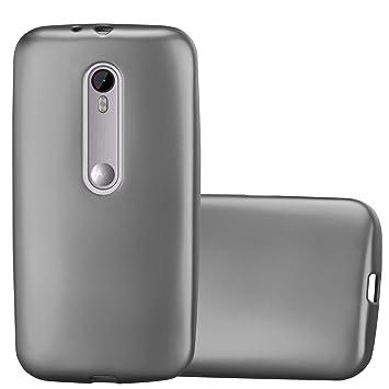 Cadorabo Funda para Motorola Moto G3 en Metallic Gris – Cubierta Proteccíon de Silicona TPU Delgada e Flexible con Antichoque – Gel Case Cover Carcasa ...
