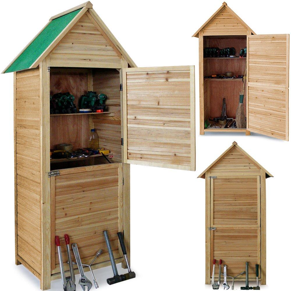 Abri de jardin en bois cabane 190x79x49cm - 2 étagères 2 portes  verrouillables