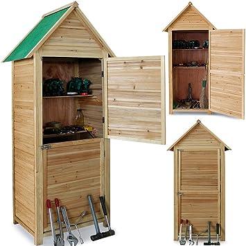 Wooden Garden Tool Shed   190x79x49cm   Garden Outdoor Storage Tool Cabinet