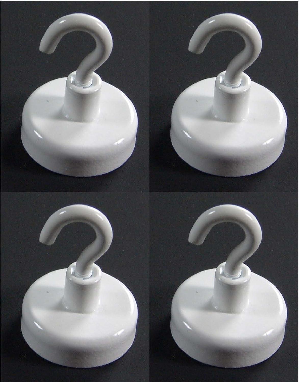 Magnethaken weiß , Ø : 16mm, Tragkraft 1,8 kg, 4 Stü ck-Pack E+N Deko
