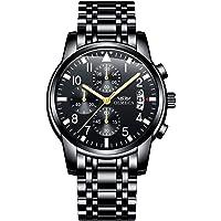 OLMECA Men's Watch Fashion Luxury Wrist Watches Analog Quartz Waterproof Chronograph Watch for Men Stainless Steel Strap Clock 830