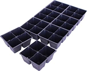 Handy Pantry Black Plastic Garden Tray Inserts - 10 Sheets of 32 Planting Pot Cells Each