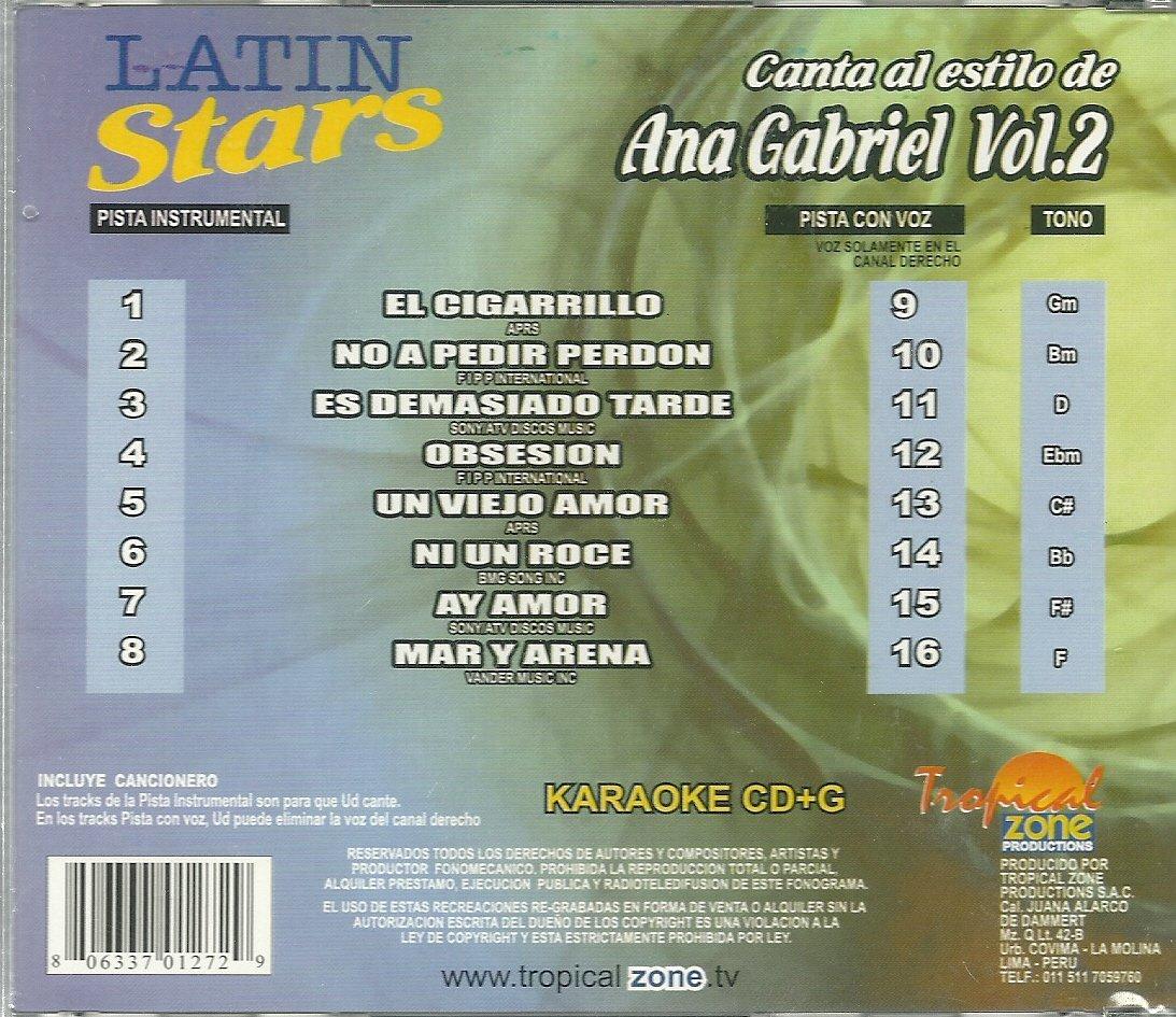 Ana Gabriel - Karaoke: Ana Gabriel 2 - Latin Stars Karaoke - Amazon.com Music