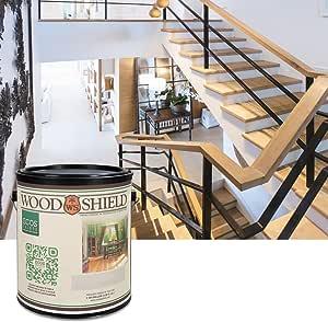 ECOS Paints 00817292022678 Shield Interior Semi-Gloss Wood Varnish, 1 Quart, Clear
