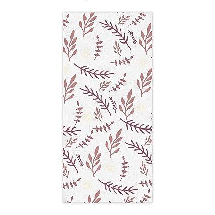 Toalla de baño de secado rápido algodón Material Natural Planta Impresión Ultra suave toallas para baño