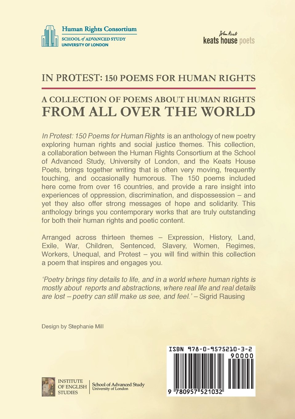 In Protest: 150 Poems for Human Rights: Sigrid Rausing, Ruth